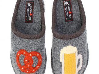 Beer and Pretzel Slippers