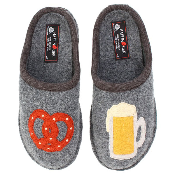 Beer and Pretzel Slippers