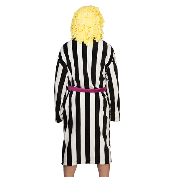 Beetlejuice Striped Suit Hooded Robe