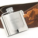 Belt Buckle Flask
