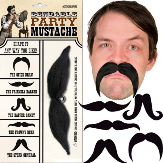 sc 1 st  GeekAlerts & Bendable Party Mustache