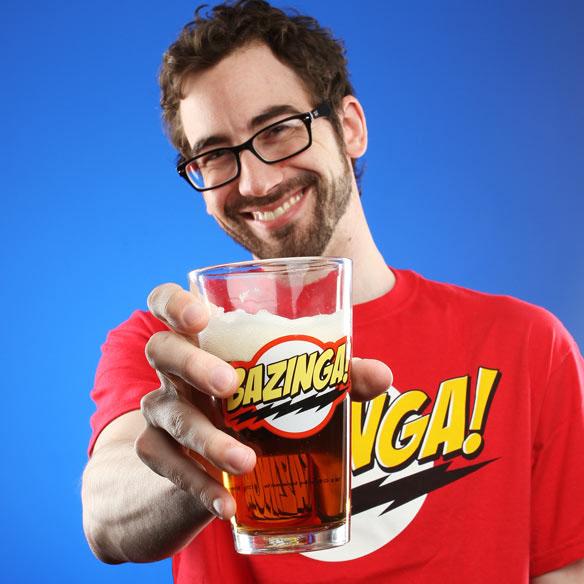 Big Bang Theory Bazinga Pint Glass