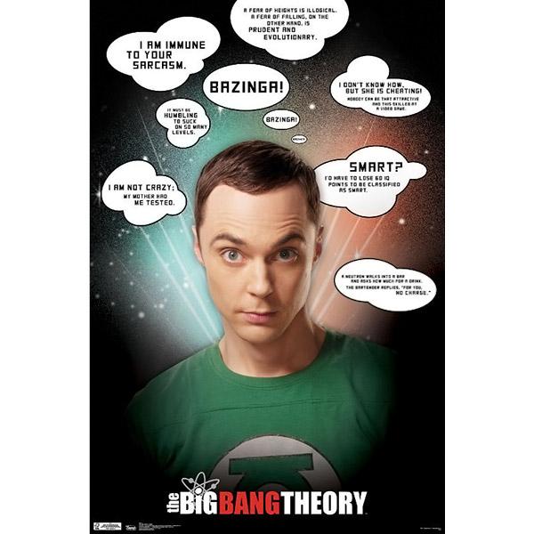 Bang Theory Sheldon Quotes Poster – Big Bang Theory Birthday Card