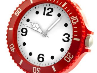 Big Time Wall Clock Red