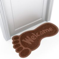 Bigfoot Shaped Welcome Mat