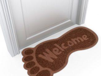 Bigfoot Shaped Welcome Mat