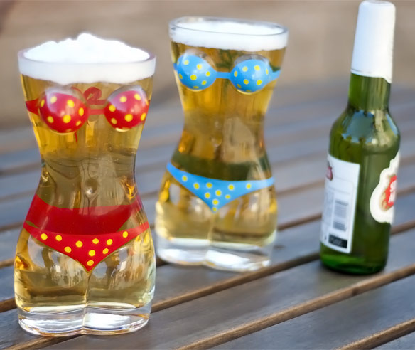 Bikini Beer Glasses