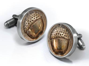 Bilbo Baggin's Acorn Button Cufflinks