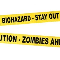 Biohazard and Zombie Crime Scene Tape