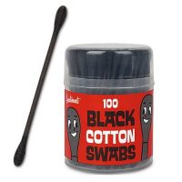 Black Cotton Swabs