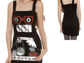 Black Knit Robot Dress