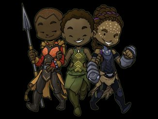 Black Panther Okoye Nakia Shuri Panther Trio Shirt