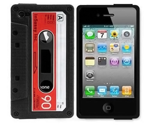 Black Red Silicone Cassette Tape Case