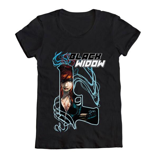 Black Widow Gun T-Shirt