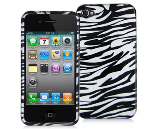 Black and White Zebra Hard Plastic Snap On Case
