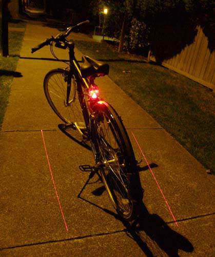 Blazing Skull Bicycle Tail Light
