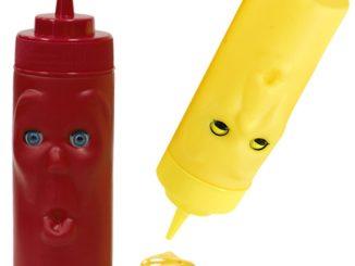 Blink Mustard & Ketchup Bottles