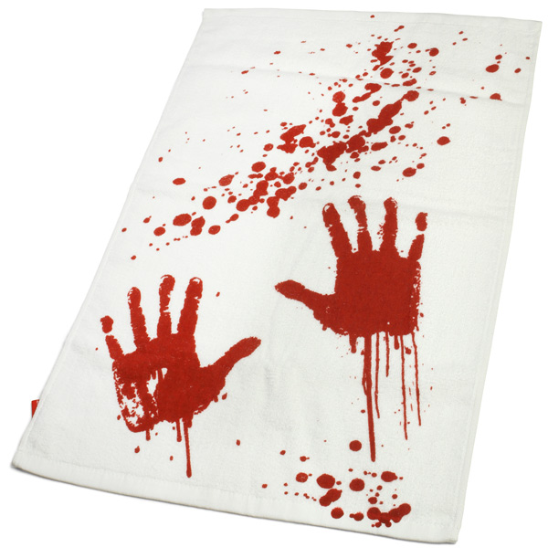 Blood Bath Bloody Hand Towel