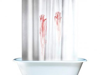 Blood Bath Bloody Shower Curtain