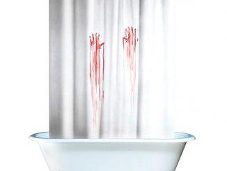 Blood Bath Bloody Shower Curtain