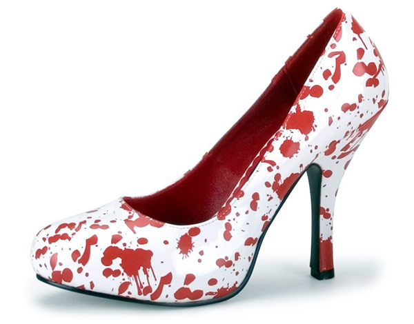 Red Blood Splatter Shoes