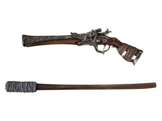Bloodborne Hunters Arsenal Pistol and Torch 1 6 Scale Replica