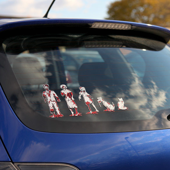 Bloody Zombie Family Car Decals