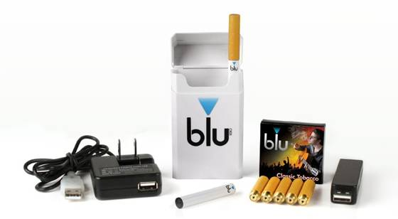 Blu Electronic Cigarette White Starter Kit