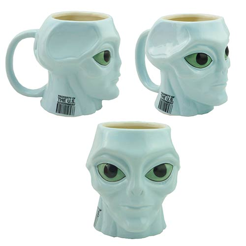 Blue Alien Molded 16 oz. Mug