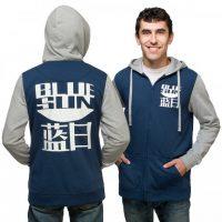 Blue Sun Zip-Up Hoodie