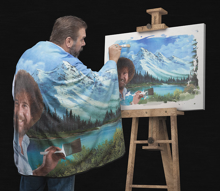 Bob Ross's Happy Little Blanket