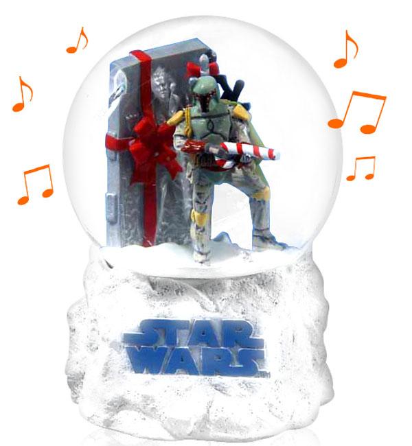 Boba Fett Musical Snowglobe