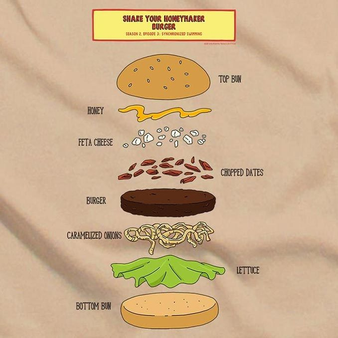 Bob's Burgers Shake Your Honeymaker Burger T-Shirt