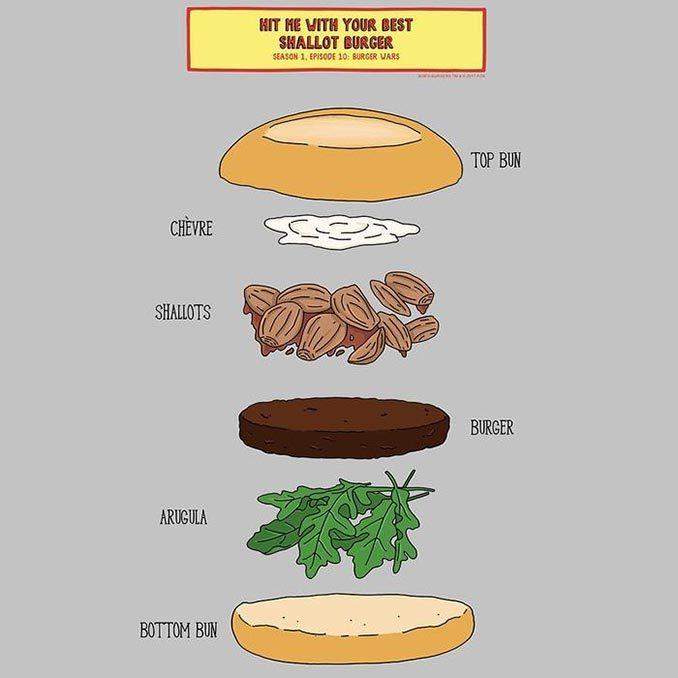 Bob's Burgers Shallot Burger T-Shirt