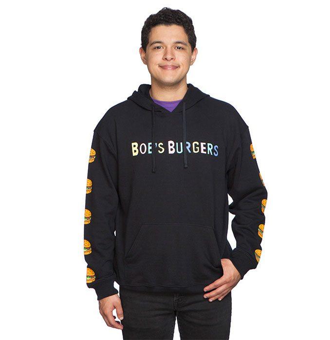 Bob's Burgers Sleeve Print Pullover Hoodie