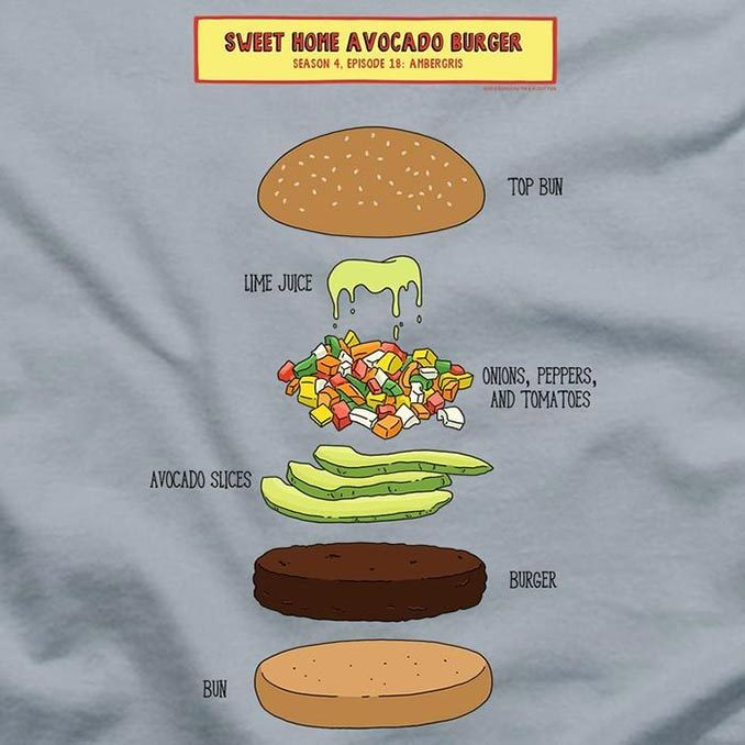 Bob's Burgers Sweet Home Avocado Burger T-Shirt