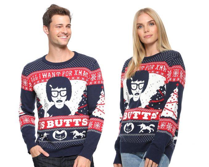 Bob's Burgers Tina Butts Christmas Sweater