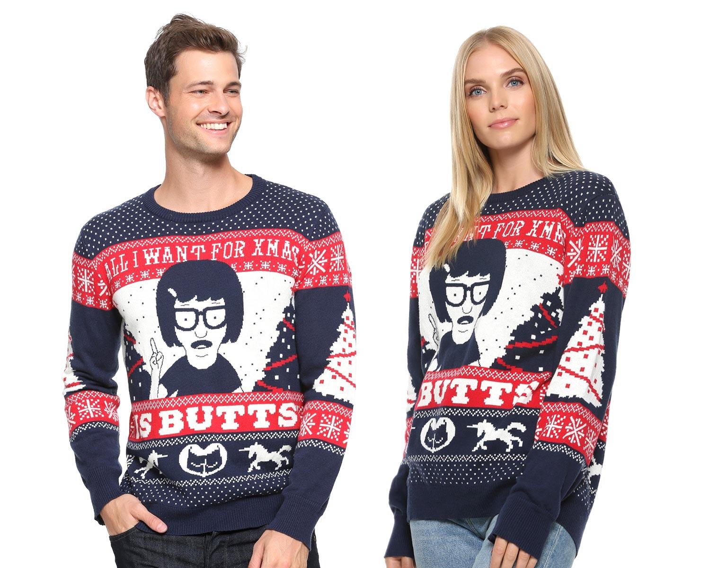 d8f8d80a Bob's Burgers Tina Butts Christmas Sweater