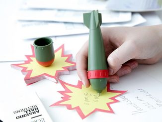 Bomb Pen and Explosion Note Pad Set