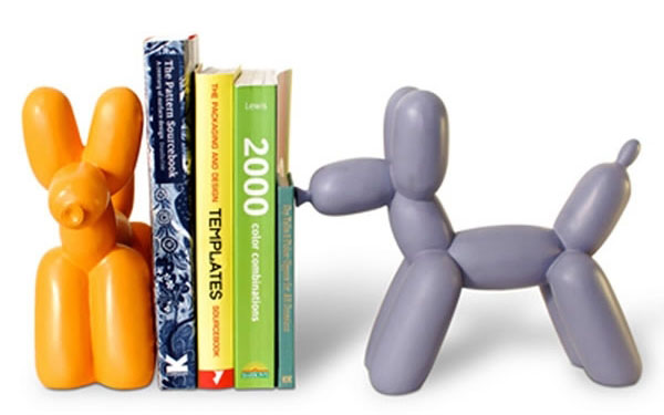 Bookend shaped like a dog balloon animal