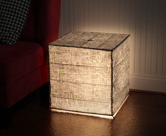 Borg Cube Giant Floor-standing Paper Lantern