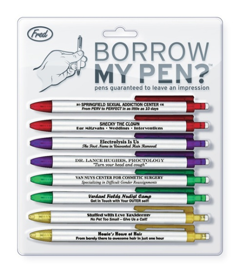 Borrow My Pen Fun Pen Set