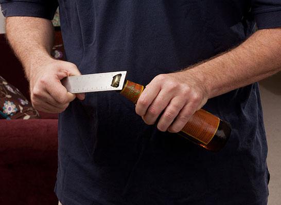 Bottle Opening Stainless Steel Ruler