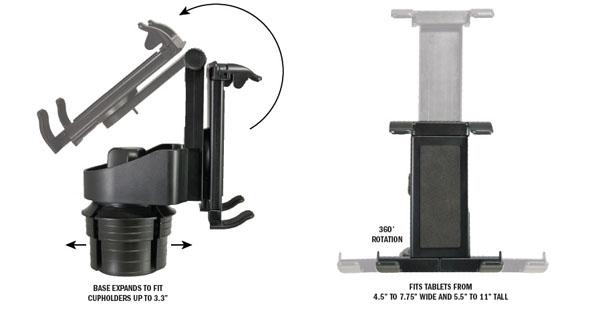 Bracketron Universal Tablet Cup Holder Adjustable Mount