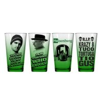 Breaking Bad Green Pint Glass 4-Pack