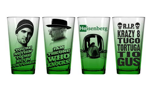 Breaking Bad Green Pint Glasses
