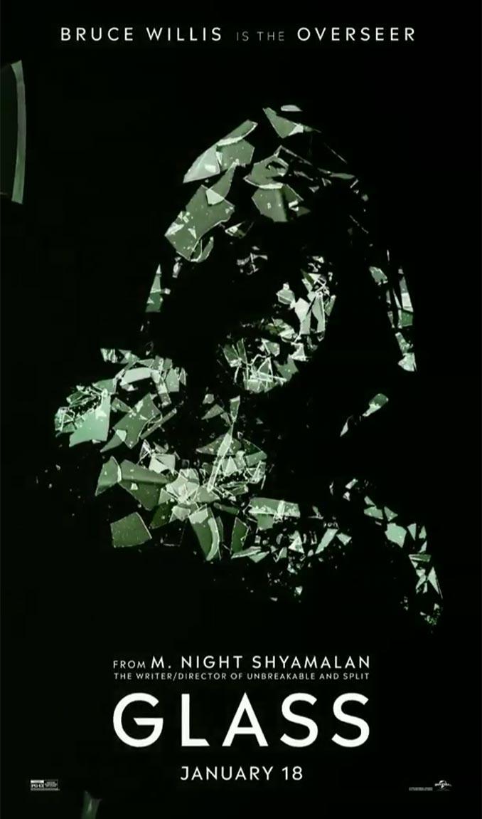 Bruce Willis Overseer Glass Poster
