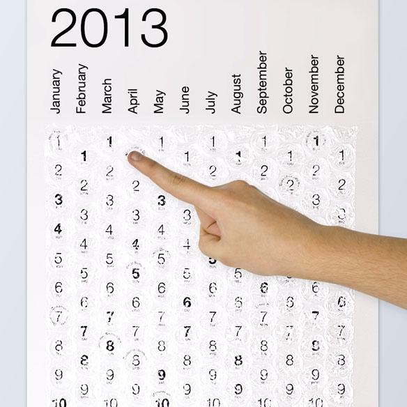Bubblewrap 2013 Calendar