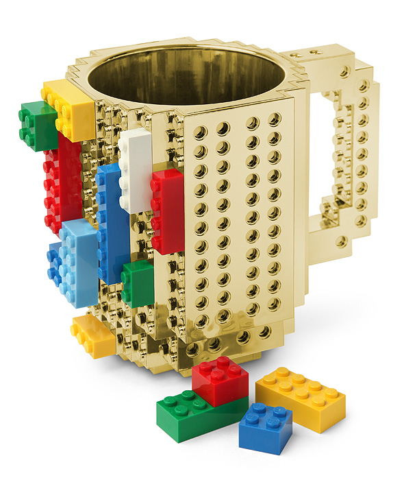Build On Brick Mug - Metallic