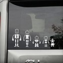 Build Your Robot Family Car Stickers